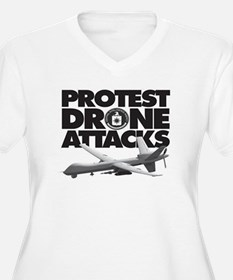 Protest Drone Attacks Plus Size T-Shirt