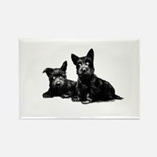 SCOTTIE DOGS Rectangle Magnet