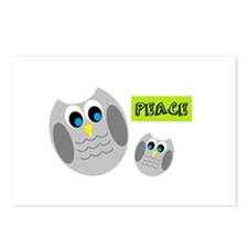PEACE Owls Postcards (Package of 8)