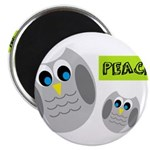 PEACE Owls Magnets
