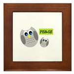 PEACE Owls Framed Tile