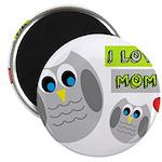 I LOVE MOM Magnets