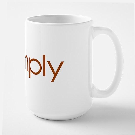 Live Simply Large Mug