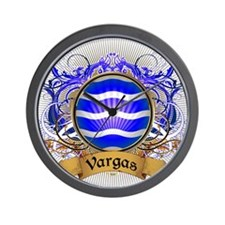 Vargas Family Crest Wall Clock