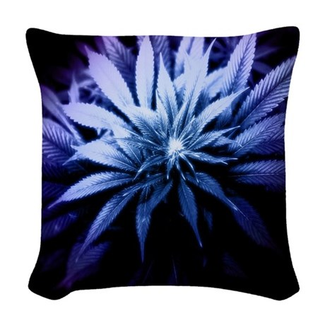 Woven Blue Throw Pillow : Blue Kush Woven Throw Pillow by BeautifulBed