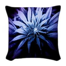 Blue Kush Woven Throw Pillow