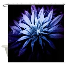 Blue Kush Shower Curtain