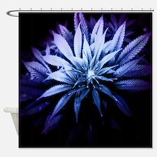 Blue Kush Shower Curtain