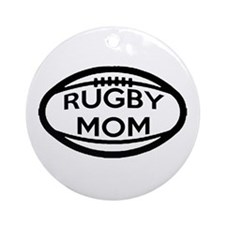 Rugby Mom Ornament (Round)