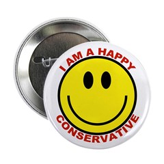 I am a Happy Conservative Button