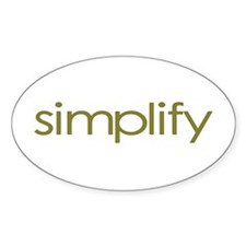 Simplify Oval Decal