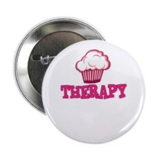 "Cupcake Therapy 2.25"" Button (10 pack)"