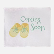 Coming Soon Throw Blanket
