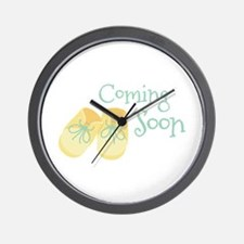 Coming Soon Wall Clock