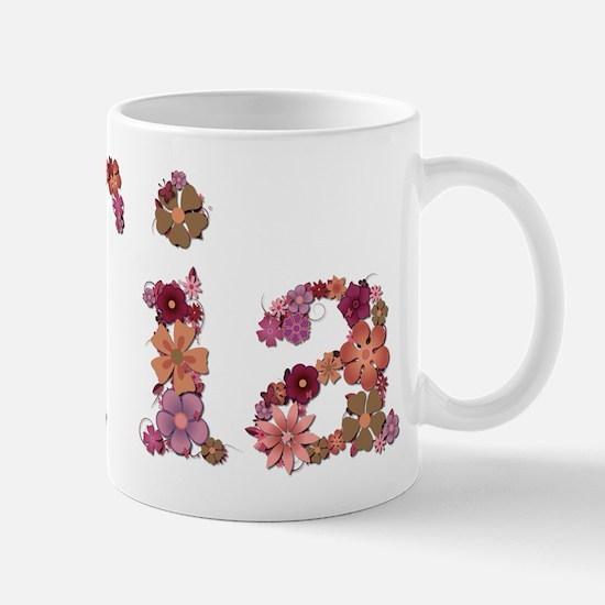 Tia Pink Flowers Mugs