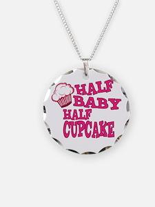 Half Baby Half Cupcake Necklace