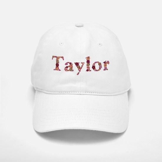 Taylor Pink Flowers Baseball Baseball Baseball Cap
