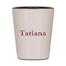 Tatiana Pink Flowers Shot Glass