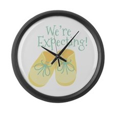 Were Expecting Large Wall Clock