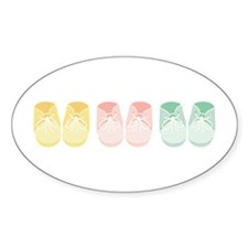 Triplets Bootie Border Decal