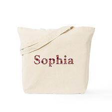 Sophia Pink Flowers Tote Bag