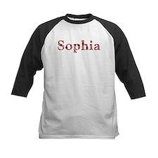 Sophia Pink Flowers Baseball Jersey