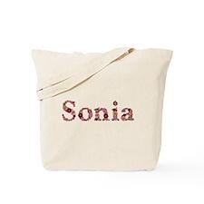 Sonia Pink Flowers Tote Bag