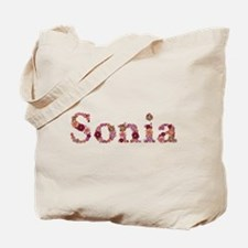 Sonia Pink Flowers Tote Bag