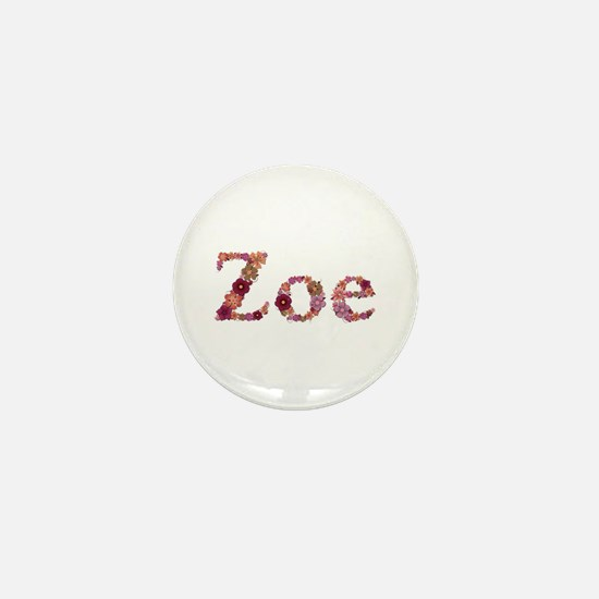 Zoe Pink Flowers Mini Button