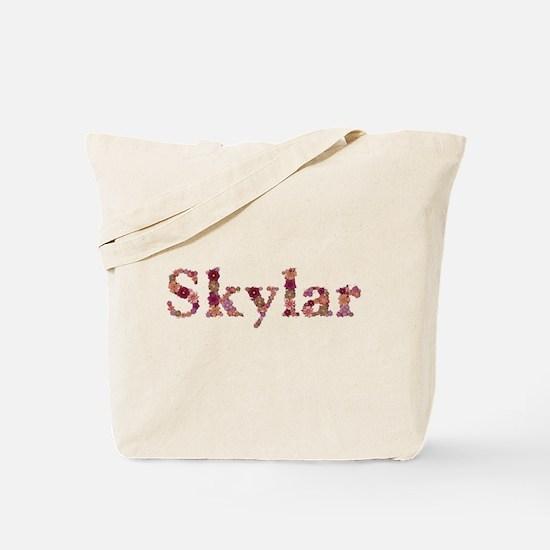 Skylar Pink Flowers Tote Bag