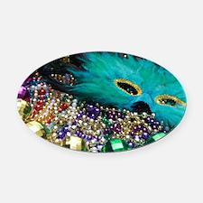 Carnival Spirit of Mardi Gras Oval Car Magnet