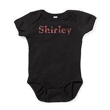 Shirley Pink Flowers Baby Bodysuit