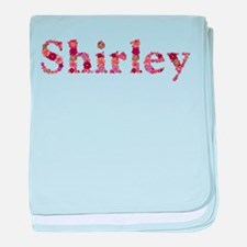 Shirley Pink Flowers baby blanket