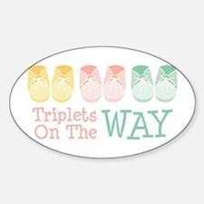 Triplets on the Way Decal