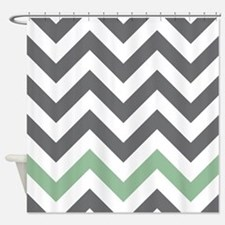 Chevron Pattern Shower Curtain