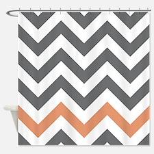 Chevron Pattern Shower Curtain