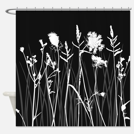 Elegant Grass Silhouette Shower Curtain
