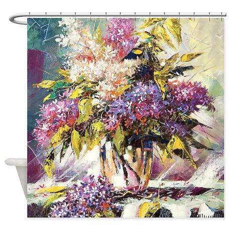 Lilac Bouquet Shower Curtain By BestShowerCurtains