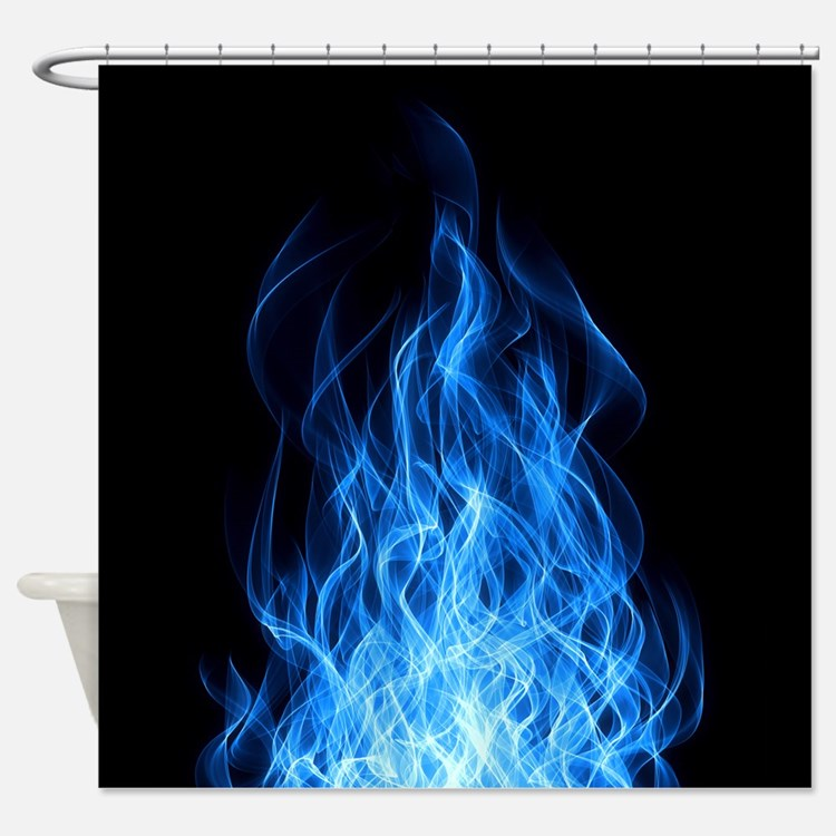 Blue Flames Shower Curtain