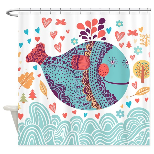Whimsical Whale Shower Curtain By Bestshowercurtains