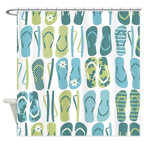 Fun Flip Flops Shower Curtain Pertaining To Flip Flop Shower Curtain