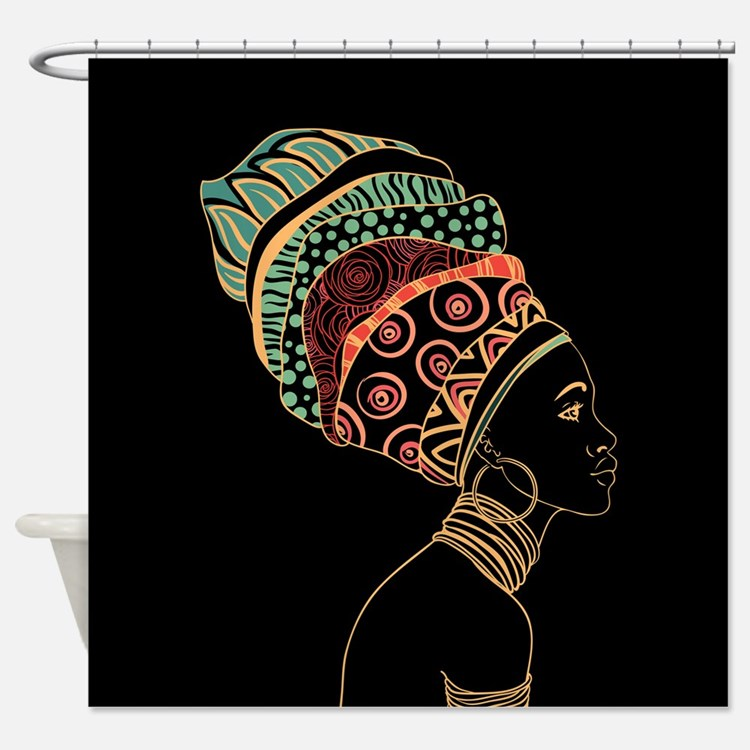 African Woman Shower Curtains
