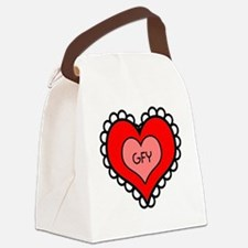GFY Heart Canvas Lunch Bag