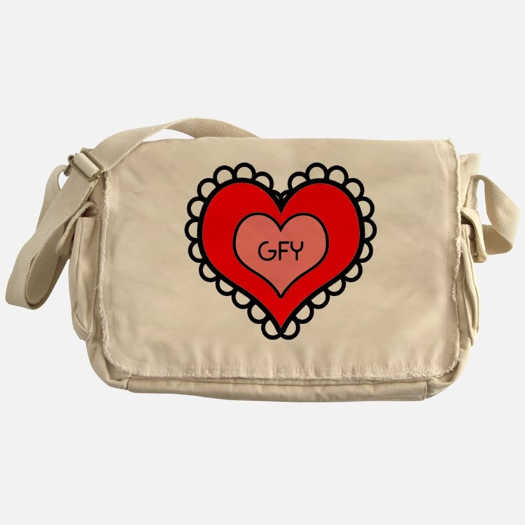 GFY Heart Messenger Bag