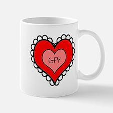 GFY Heart Mugs