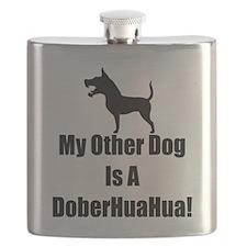 My Other Dog is a DoberHuaHua! Flask