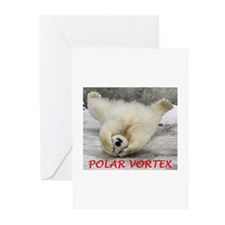 Polar Vortex Greeting Cards