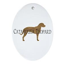 Catahoula Leopard Dog Oval Ornament