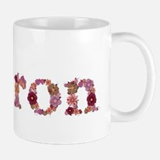 Sharon Pink Flowers Mugs