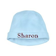 Sharon Pink Flowers baby hat